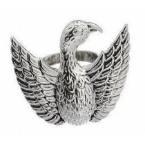 Decorative Silver Plated Eagle Napkin Ring