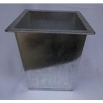 Decorative Square Galvanized Metal  Planter