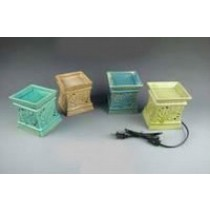 Decorative Square Multi Colored Electric Wax Warmer Oil Burner(Set Of 4)