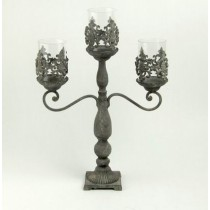 Decorative Stand Style Cutout Metal Candle Holder