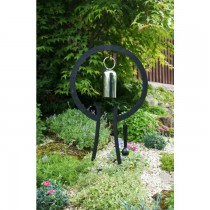 Decorative Steel Hanging Garden Gong With Stand