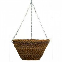 Decorative Steel Rope Bucket Planter with Chain