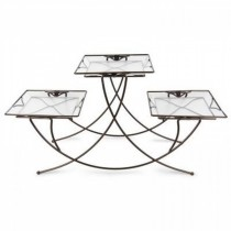 Decorative Steel Triple Square Planter Stand