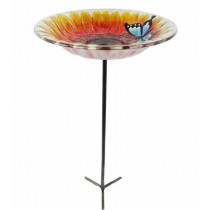 Decorative Sunflower Glass Bird Feeder