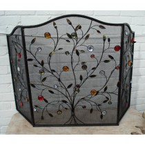 Decorative Three Fold Jewel Branch Firescreen