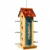 Decorative Twig Wooden Hanging Bird Feeder