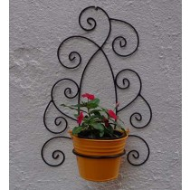 Decorative Wall Bracket with Yellow Bucket Planter