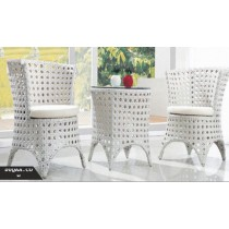 Decorative White Cutout Pattern Garden Sofa Set(4+1 Set)