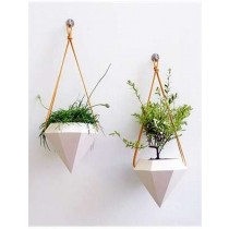 Decorative White  Diamond Planters