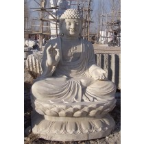 Decorative White Marble Buddha Statue