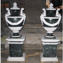 Decorative White Marble With Granite Garden Sculpture