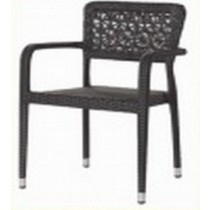 Decorative Wicker Black Restaurant Rattan Chair