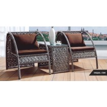 Decorative Wicker Coffee Rattan Sofa Set(2 single chair + 1 table)