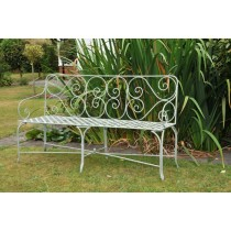 Decorative Wrought Iron Garden Bench