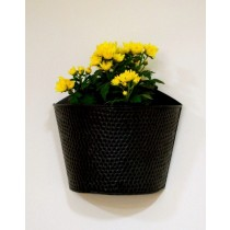 Designer Black Oval Shape Wall Planter