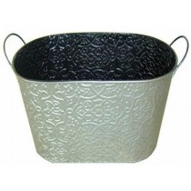 Metal 15 Inch Planter With Handle