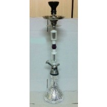Designer Silver Shiny Mirror New Design Hookah