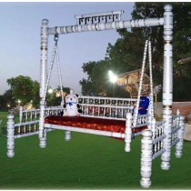 Designer White Outdoor Garden Swing