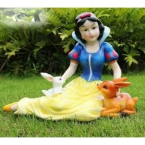 Disney Queen With Rabbit Garden Sculpture
