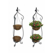Double Basket Hanger Iron Plant Stand