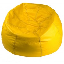 Double Stitched Yellow Beanbag