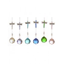 Dragonfly Design Crystals Hanging Sun Catchers