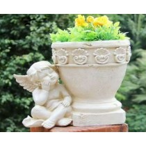 Dreaming Angel Decorative Garden Flower Pot