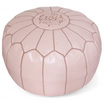 Durable 13 Inch Height Round Floor Pouf