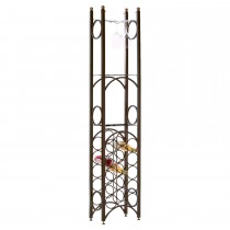 Durable 15 Bottle Metal Wine Rack
