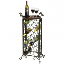 Durable 21 Bottle Wrought Iron Wine Rack
