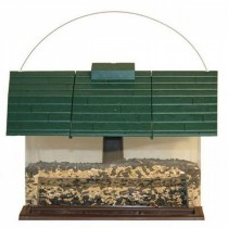 Durable Barn Style Plastic Hanging Bird Feeder