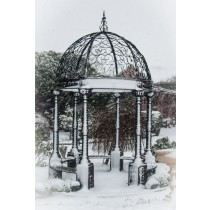 Durable Black Finish Classic Design Metal Gazebo