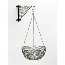 Durable Black Finish Iron Hanging Basket