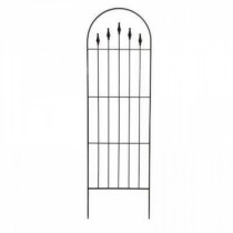 Durable Black Steel Finial Trellis 80 Inch