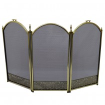 Durable Brass 25 Inch 3 Panel Fire Screen