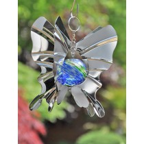 Durable Butterfly Design Ball Hanging Weathervanes