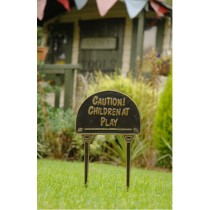 Durable Caution Children At Play Garden Tag