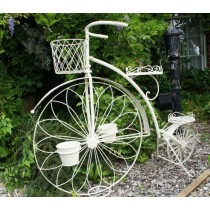 Durable Cream Finish Wrought Iron Planter Stand