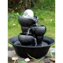 Durable Crystal Ball Three Bowls Water Fountain