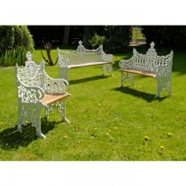 Durable Hand Cast Aluminium Garden Bench Set