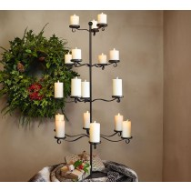 Durable Iron Tree Pillar Candle Holder