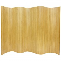 Durable Light Natural Finish Bamboo Wave Screen