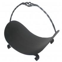 Durable Metal Black Log Basket With Stylish Handle
