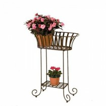 Durable Metal Oval Plant Stand