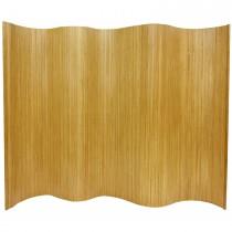 Durable Natural Finish Bamboo Wave Screen
