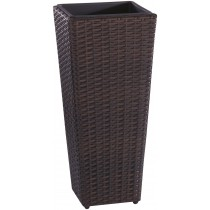 Durable Rattan Flower Pot Planter With Plastic Liner