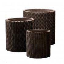 Durable Rattan Planter Set of 3 Pcs