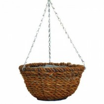 Durable Rope Round Hanging Planter With Steel Chain