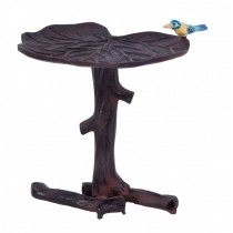 Durable Rustic Finish Aluminium Bird Bath
