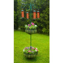 Durable Wrought Iron Bird Feeding Station Set